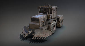 Post-apocalypse Tractor (Low-Poly) by Sergey-Ryzhkov