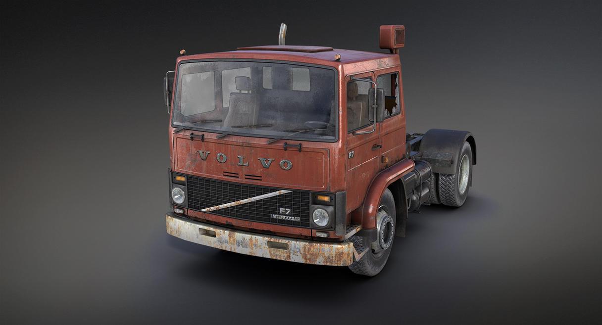 Volvo F717 Rusty (3d game low-poly) by Sergey-Ryzhkov