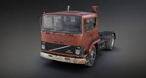 Volvo F717 Rusty (3d game low-poly)