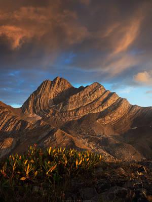 Katitsvera peak.  Racha region, Georgia by Sergey-Ryzhkov