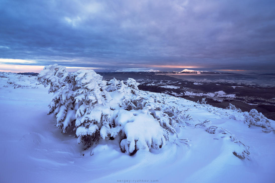 Gorgany in winter by Sergey-Ryzhkov