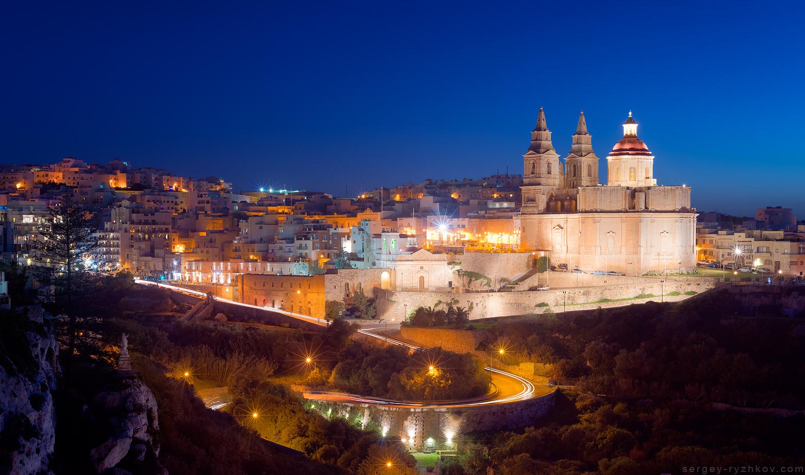 Il-Mellieha in the evening. Malta by Sergey-Ryzhkov