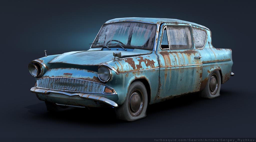 Ford Anglia 105E Rusty by Sergey-Ryzhkov