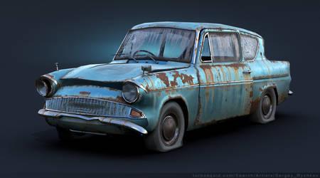 Ford Anglia 105E Rusty