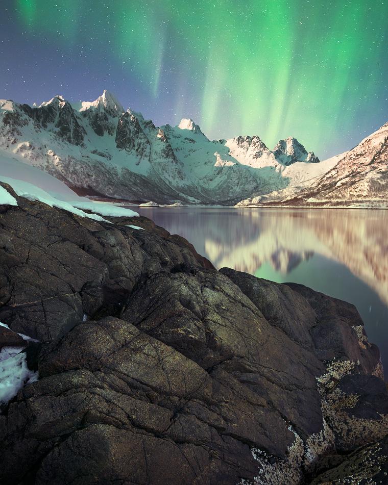 Aurora in Lofoten Islands by Sergey-Ryzhkov