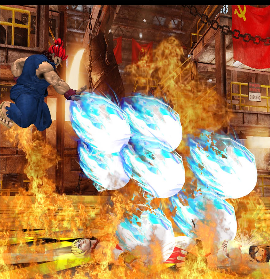 Akuma VS Ryu + Ken by dhffasd