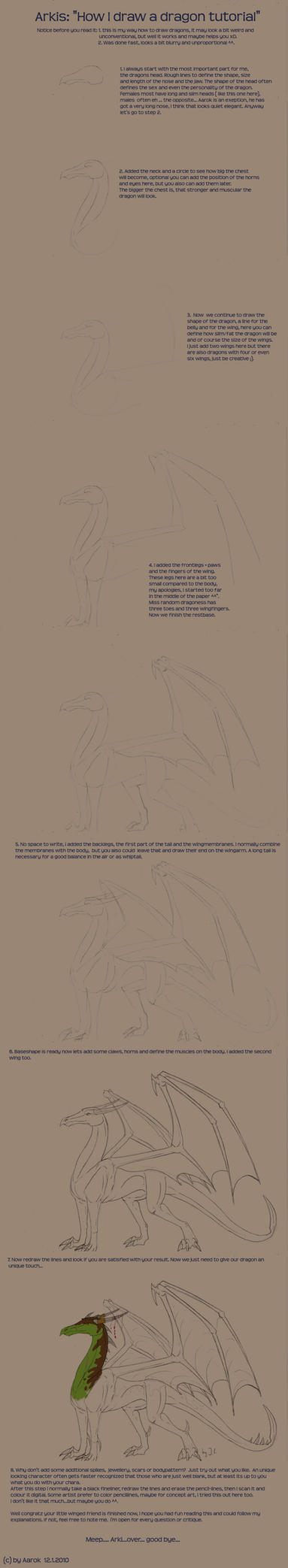 How i draw a dragon by Aarok