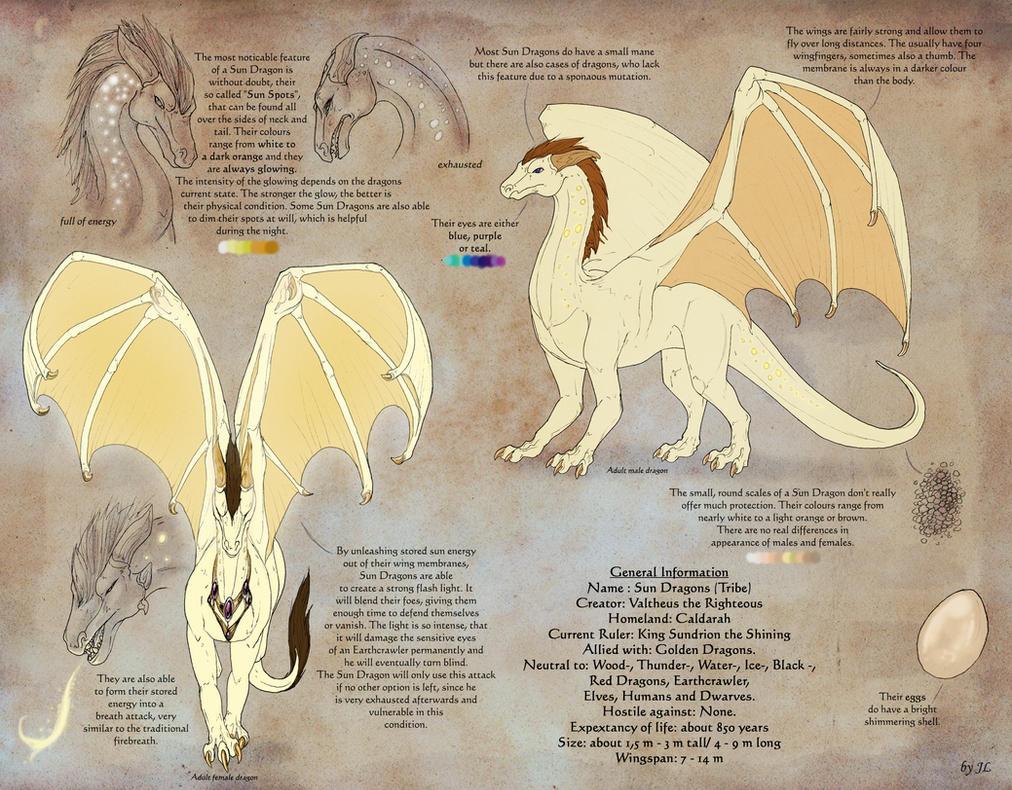 Sun Dragons Refsheet by Aarok