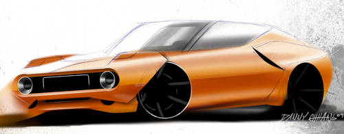 Muscle Car Sketch by Dannychhang