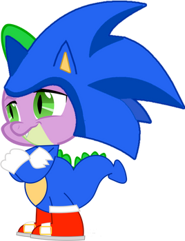 Spike as Sonic