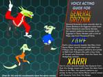 General Grizznik, Zarf and Xarri Voice Guide by 4-Chap