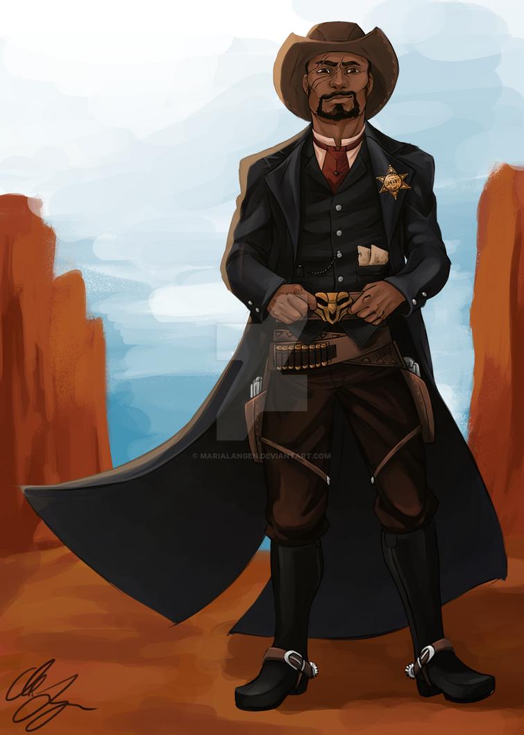 Sheriff!Reyes by MariaLangen
