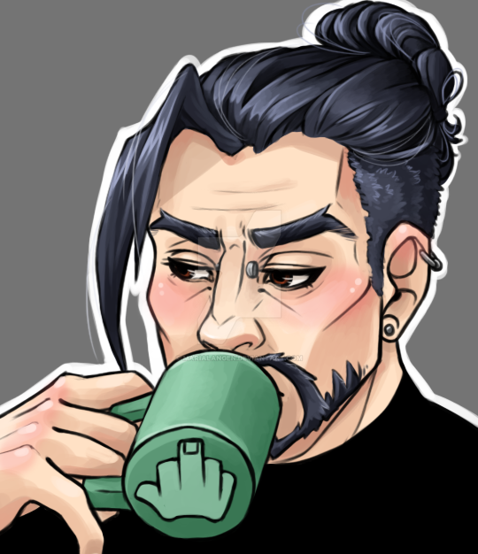 Fed up Hanzo by MariaLangen