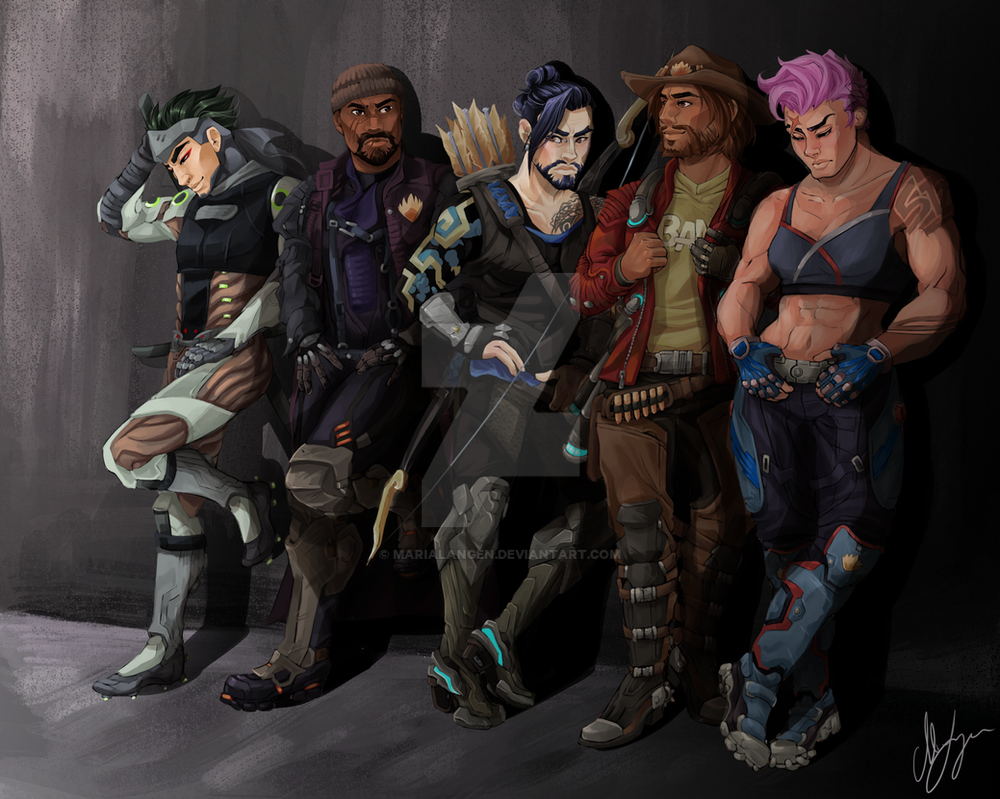 Guardians of the Galaxy x Overwatch by MariaLangen