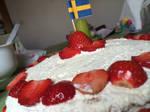 Strawberry cake - Swedish Midsummer