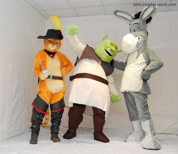 Shrek cosplay mascottes by Shoko-Cosplay