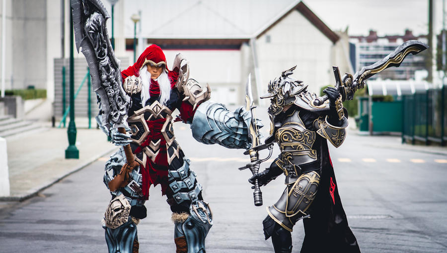 War of titans. by Shoko-Cosplay