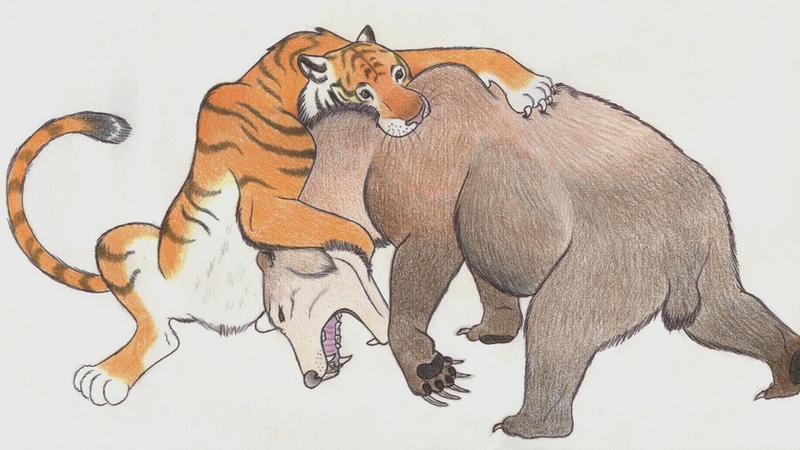 Tiger vs bear by Dark-Hyena on DeviantArt