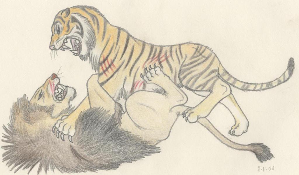 Barbary Lion vs Caspian Tiger by Dark-Hyena on DeviantArt