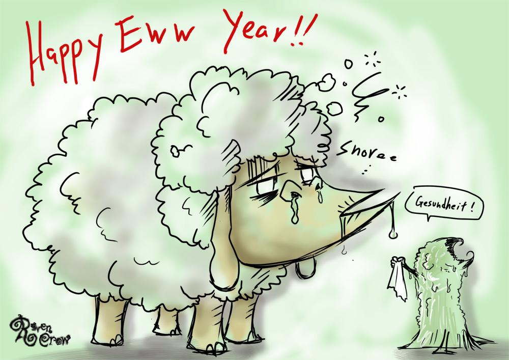 Happy Eww Year by RavenBlackCrow