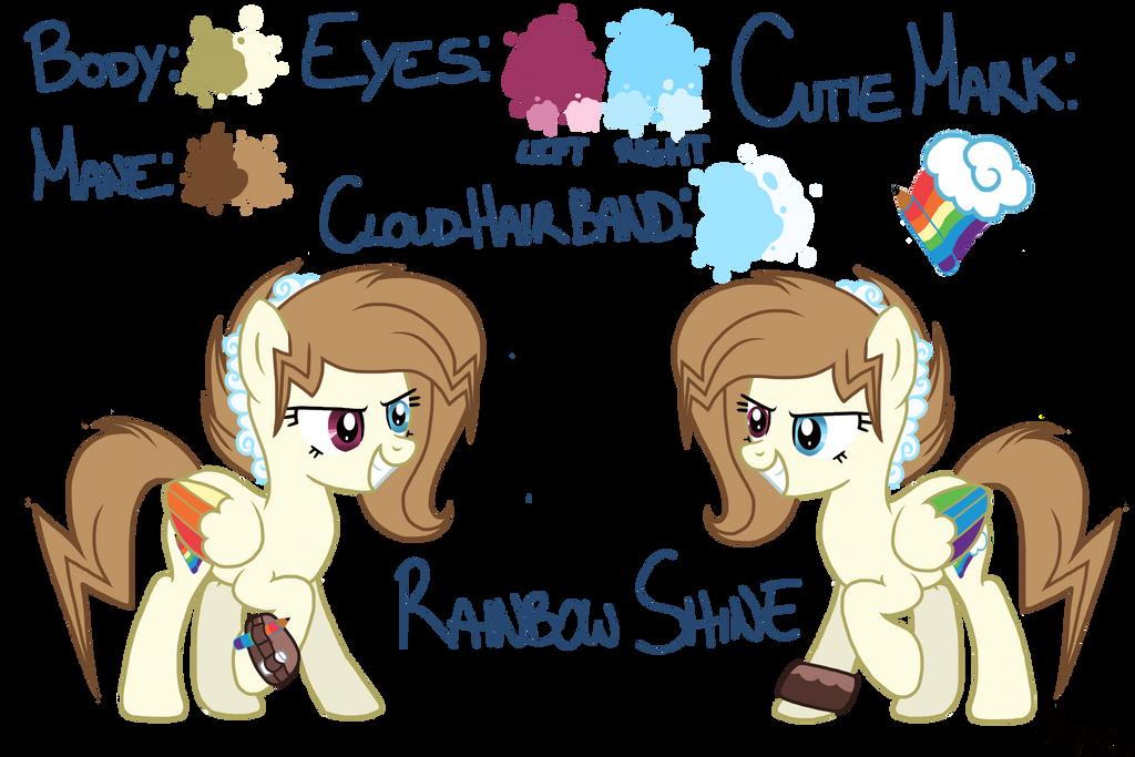 Rainbow Shine OC reference by ZephyrDash4ever