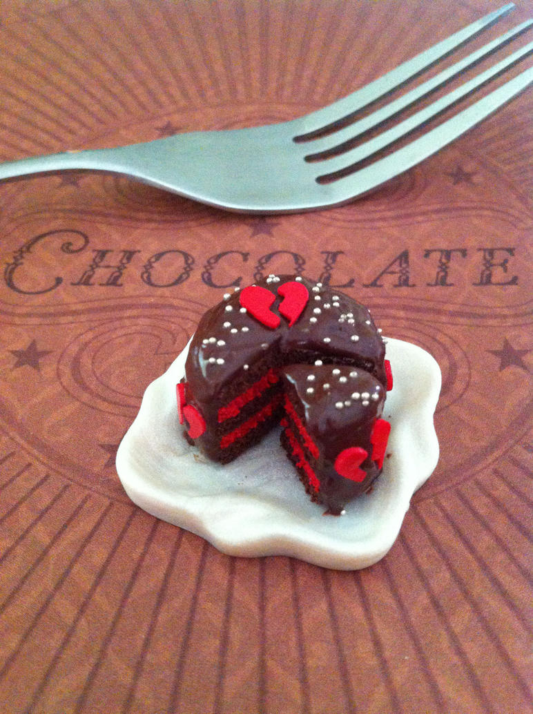 Miniature Broken heart Cake by KrystalsTinyCakery