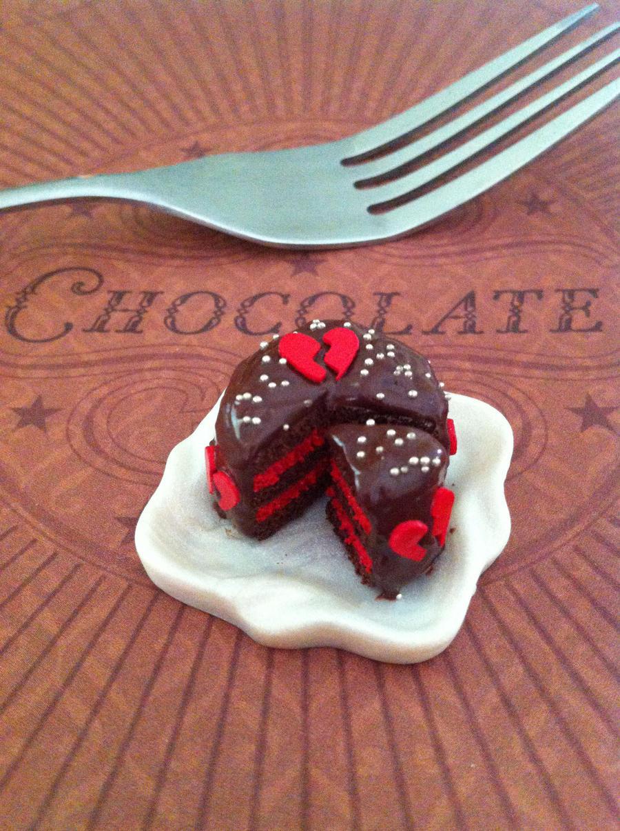 Miniature Broken heart Cake by KrystalsTinyCakery
