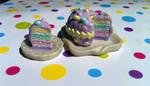 Miniature Easter Cake and Slice by KrystalsTinyCakery