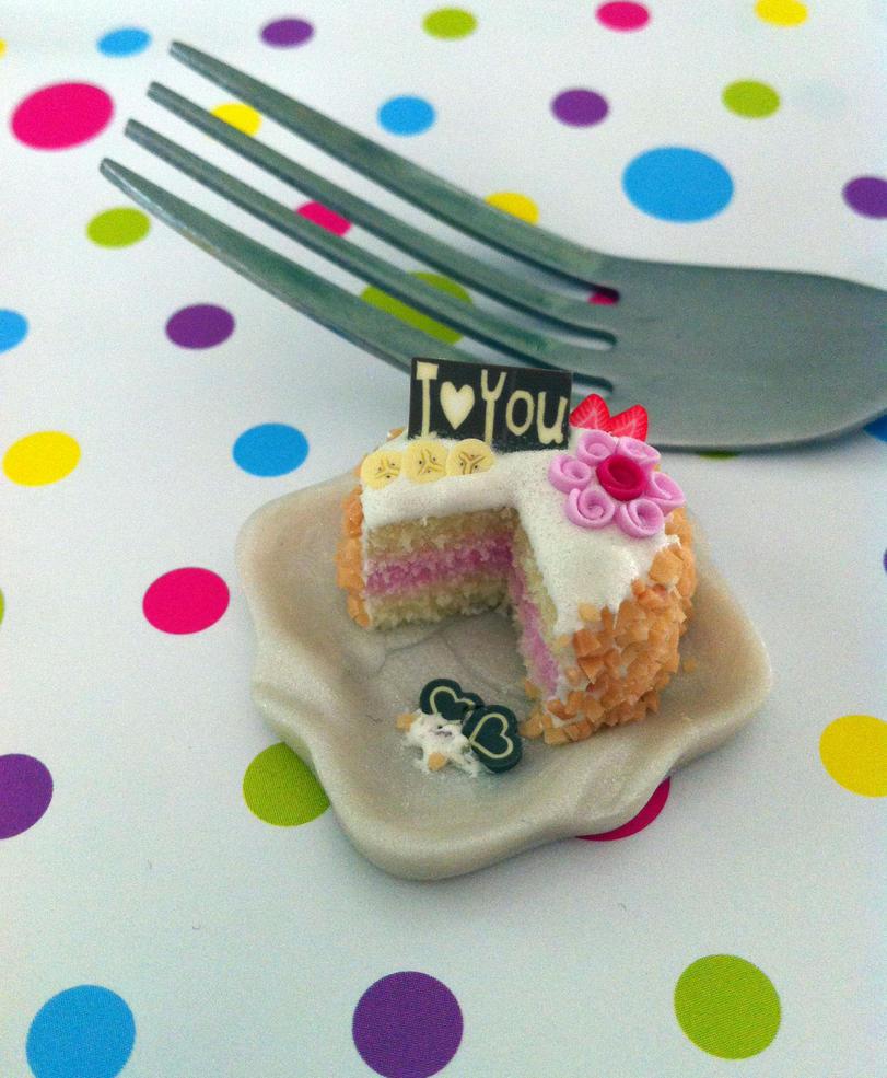 Miniature Mothers Day Cake by KrystalsTinyCakery