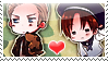 APH: Ludwig x Feliciano Stamp by Chibikaede