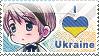 APH: I love Ukraine Stamp by Chibikaede
