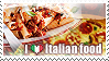 I love Italian food Stamp by Chibikaede