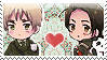 APH: Arthur x Yao Stamp by Chibikaede