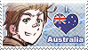 APH: I love Australia Stamp by Chibikaede