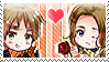 APH: Arthur x Francis Stamp by Chibikaede