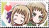 APH: Liech x Vash Stamp by Chibikaede