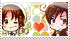 APH: N.Italy x S.Italy Stamp by Chibikaede