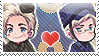 APH: Denmark x Sweden Stamp by Chibikaede