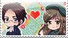 APH:Roderich x Elizabeta Stamp