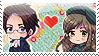 APH:Roderich x Elizabeta Stamp by Chibikaede