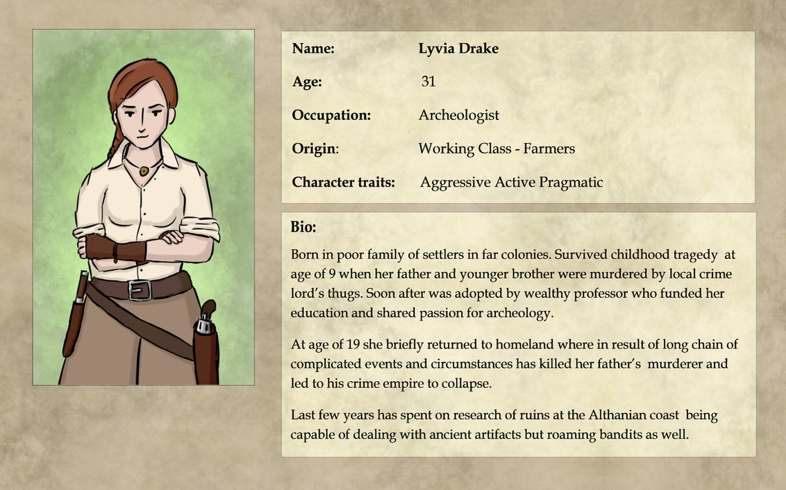 Expedition 1883: Lyvia Drake Bio by pakomako