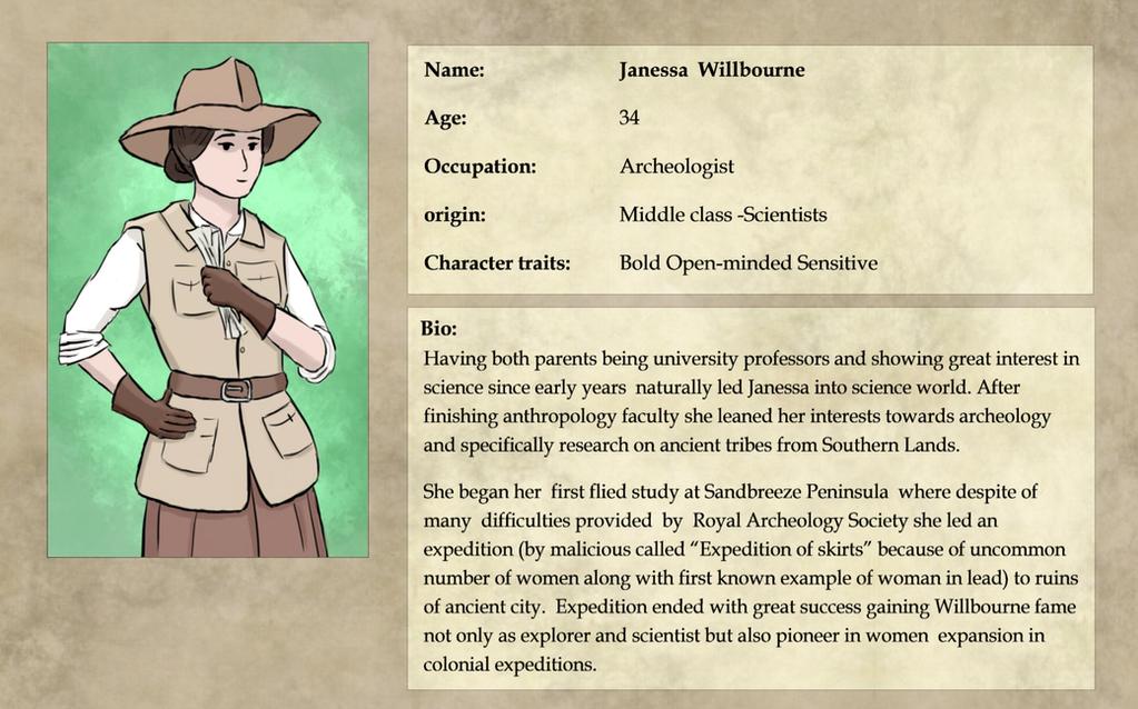 Expedition 1883: Janessa Willbourne Bio by pakomako