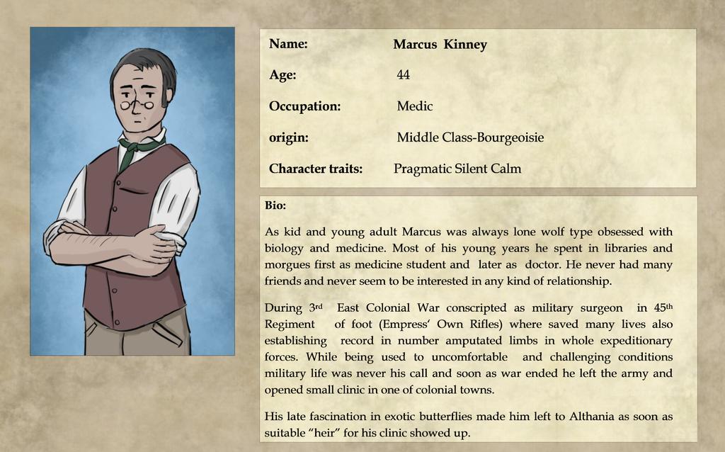 Expedition 1883: Marcus Kinney Bio by pakomako