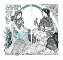 OUAT: Sleeping Beauty and  Legendary Soldier by danielfoez