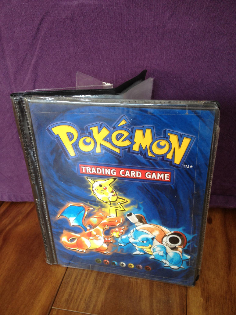how to make a pokemon card holder book
