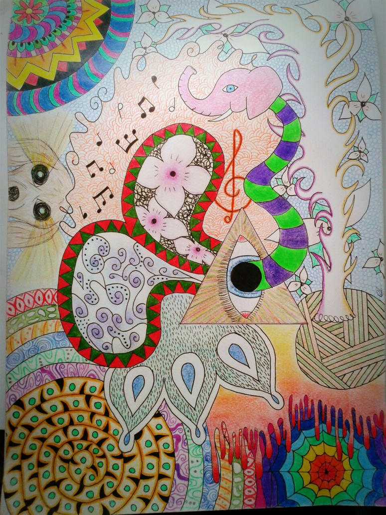 how to draw psychedelic letters