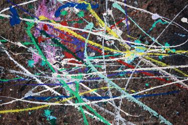 Paint on rocks by blueangelstock