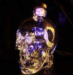 skull bottle by blueangelstock