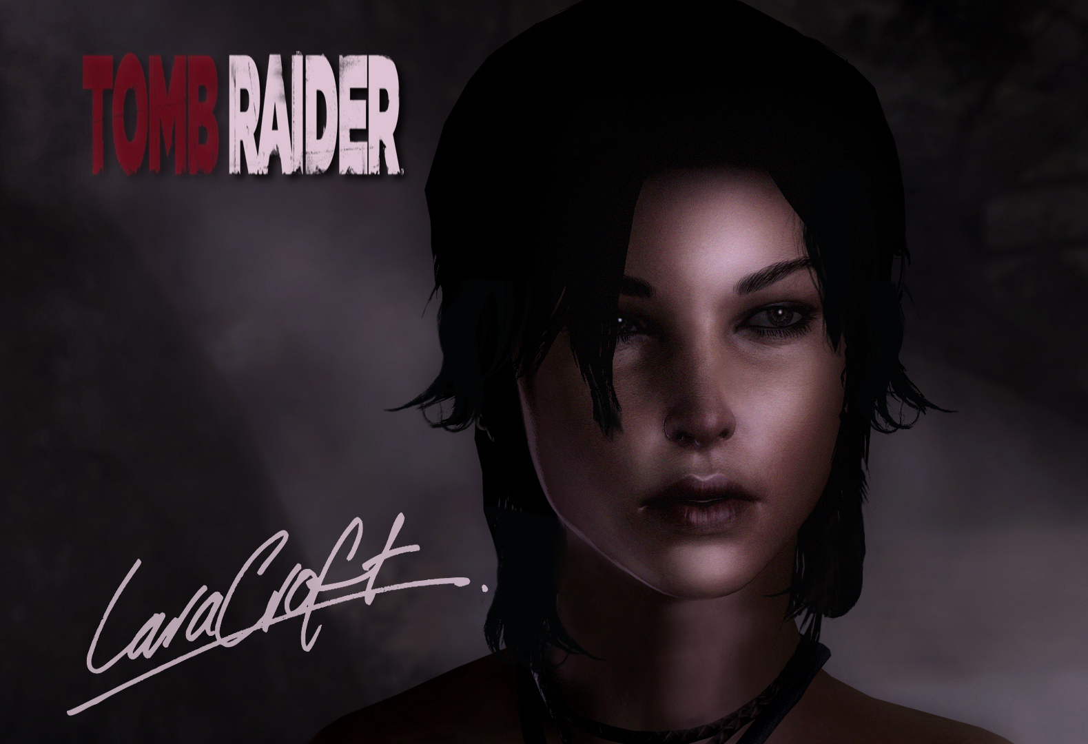 Lara Croft Portrait by Rastifan
