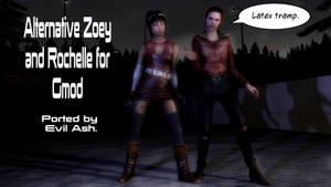 Alternative Zoey And Rochelle For GMod by Rastifan